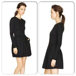 Wilfred Black Fit & Flare Dress